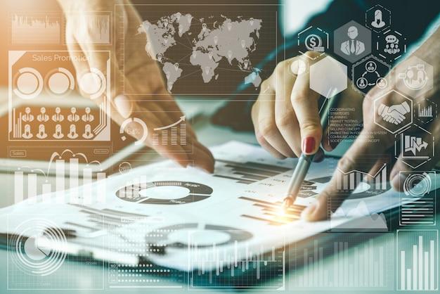 Technologie de données volumineuses pour le concept de finance d'entreprise.