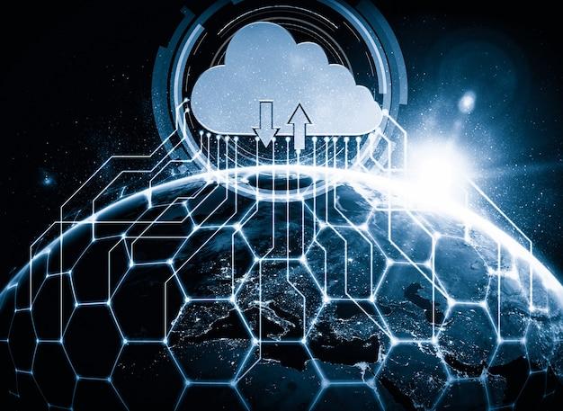 La technologie du cloud computing et le stockage de données en ligne dans une perception innovante