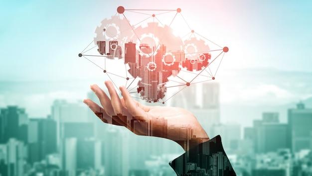 Technologie de l'innovation pour le concept de finance d'entreprise