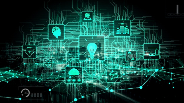 Technologie de l'innovation pour la finance d'entreprise conceptuel
