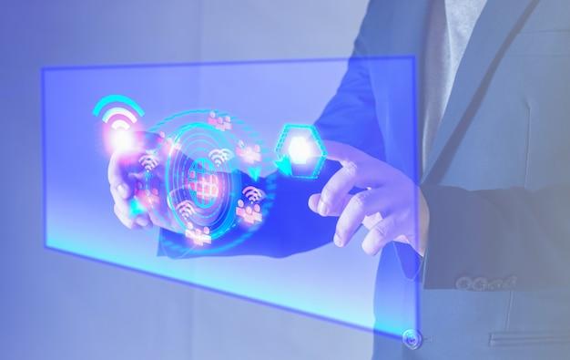 Technologie internet sans fil wifi pour un confort quotidien futur concept internet sans fil 5 g