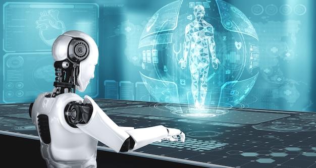 Technologie médicale future contrôlée par un robot ia utilisant l'apprentissage automatique