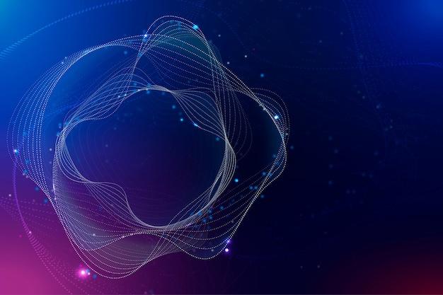Technologie perturbatrice de dégradé violet de fond de cercle d'assistant virtuel