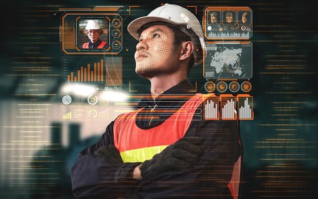 Technologie de reconnaissance faciale permettant aux travailleurs de l'industrie d'accéder au contrôle de la machine