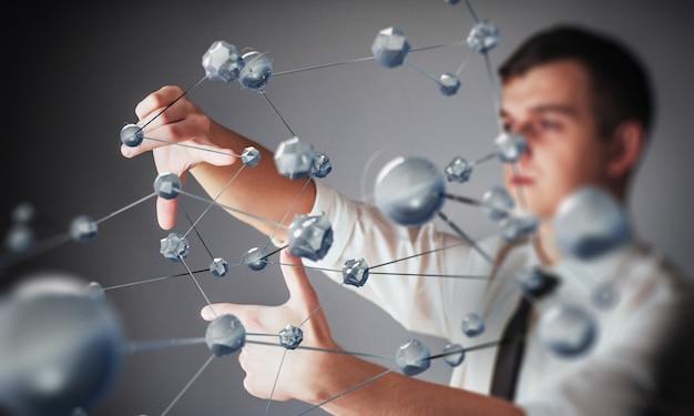 Technologies innovantes en sciences et en médecine. technologie pour se connecter.