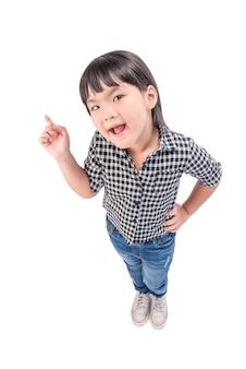Teenage girl tenir mains, petit enfant souriant heureux