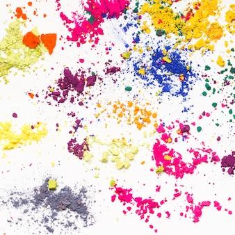 Teintures indiennes vives texture colorée sur fond blanc