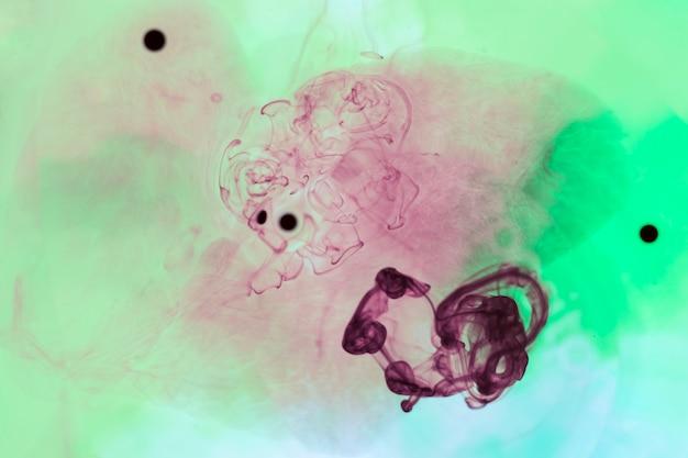 Teintures organiques avec couleurs mélangées