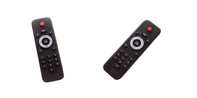 Télécommande isolée sur fond blanc. contrôleur numérique intelligent moderne