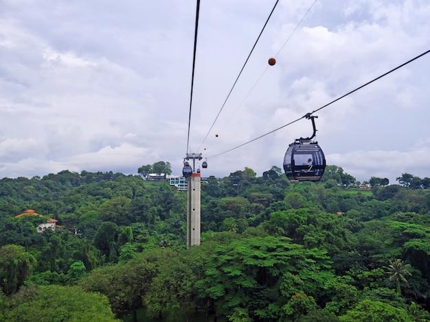 Le téléphérique de l'île de sentosa, singapour