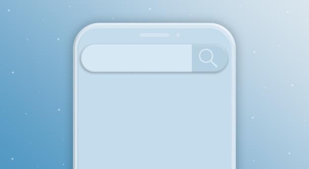 Téléphone avec barre de recherche 3d