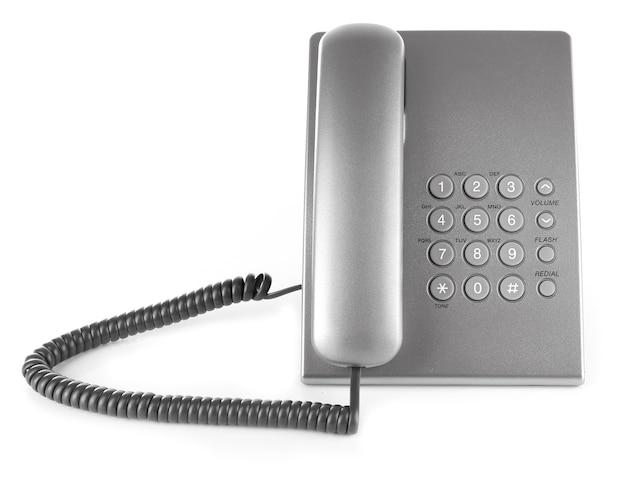 Téléphone sur blanc
