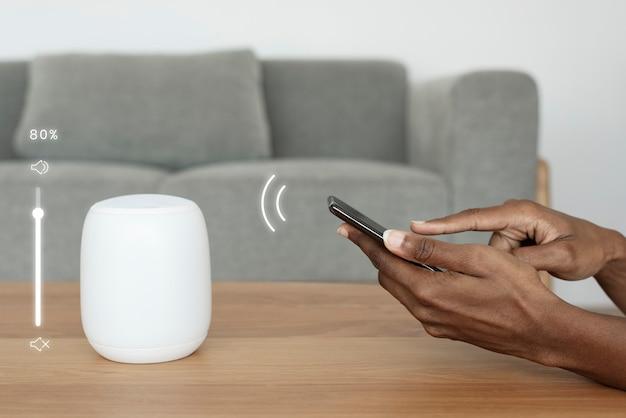Téléphone connecté avec haut-parleur intelligent