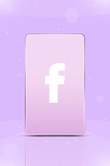 Téléphone avec l'icône du logo instagram sur l'écran 3d