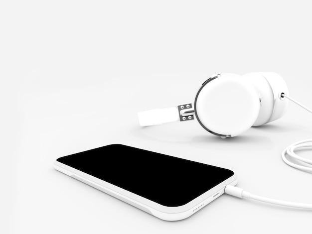 Téléphone intelligent et écouteurs