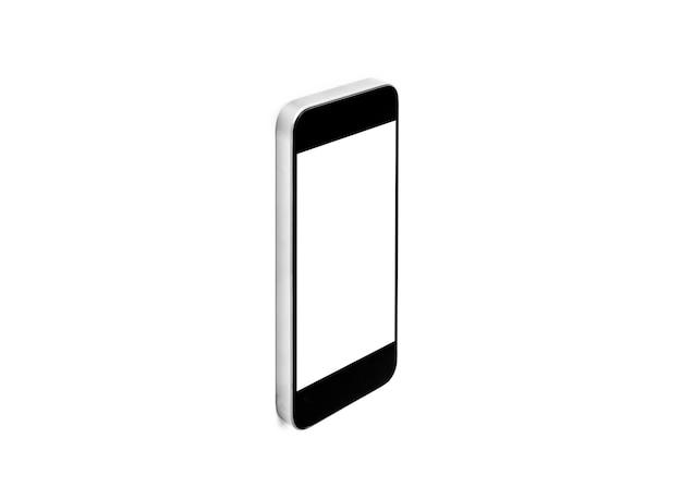 Téléphone intelligent mobile, isolé sur fond blanc