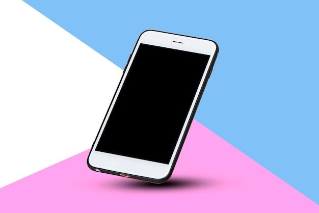 Téléphone intelligent mobile sur la technologie de fond