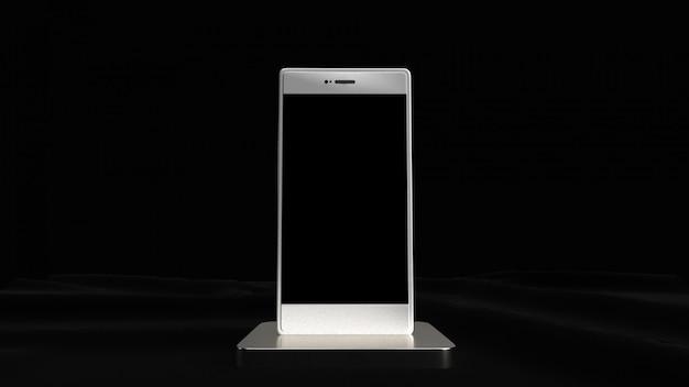 Téléphone portable dans les tons de couleur noir et blanc.