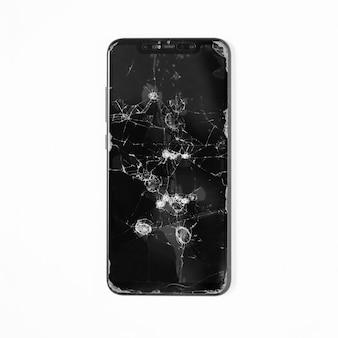 Téléphone portable à écran cassé