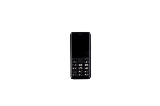 Téléphone rétro sur fond blanc téléphone portable boutons rétro fond d'abonné mobile
