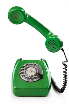 Téléphone rétro vert
