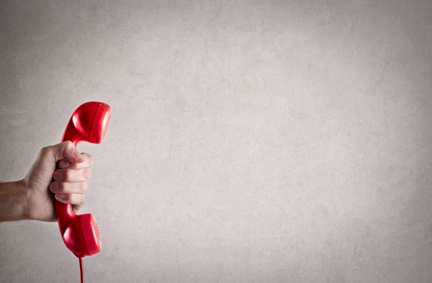 Téléphone rouge classique