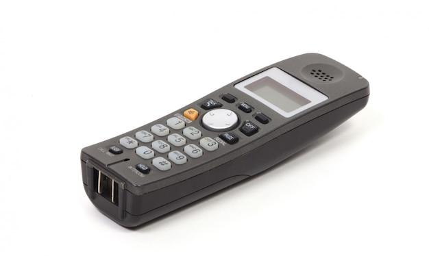 Téléphone sans fil sur blanc