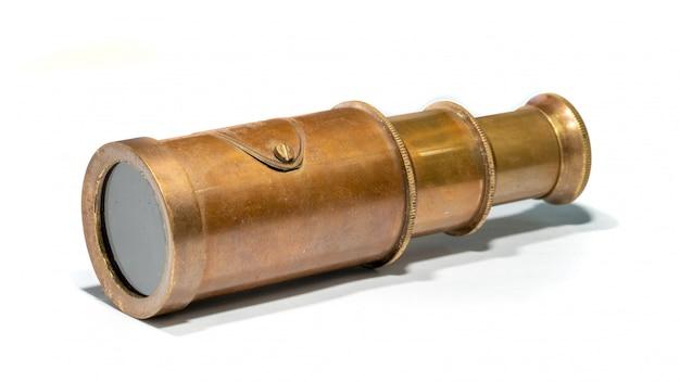 Télescope maritime en laiton vintage