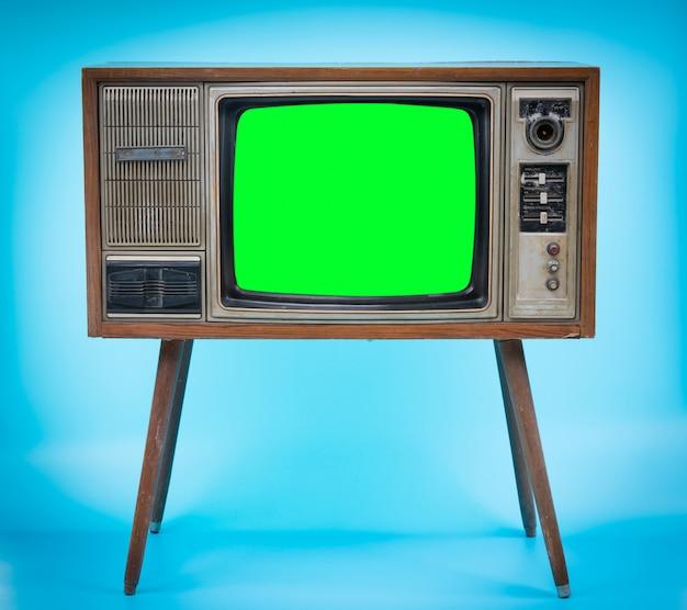 Télévision avec écran vert.