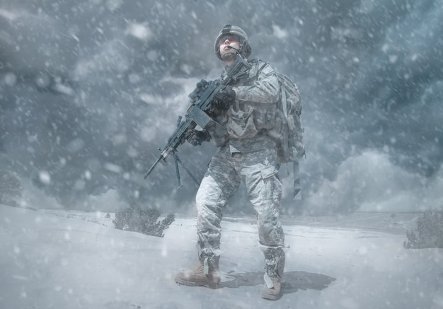 Tempête d'hiver de trooper aéroporté