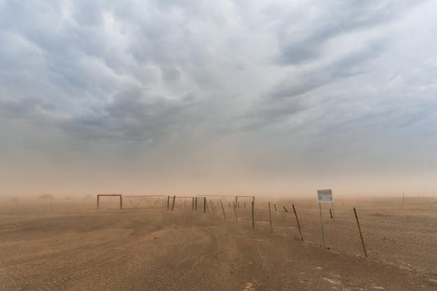 Tempête de sable en namibie
