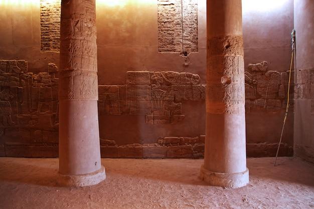 Le temple d'amon dans le désert du soudan