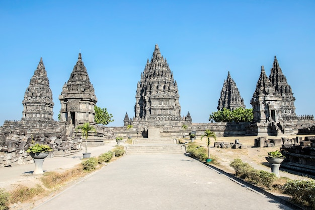 Temple bouddhiste sewu, temple de prambanan, yogyakarta, java, indonésie