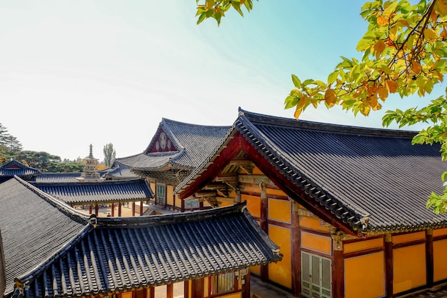 Temple bulguksa en automne