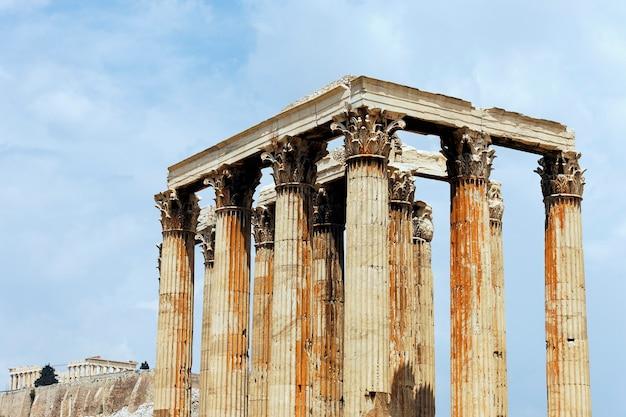 Temple célèbre d'athènes