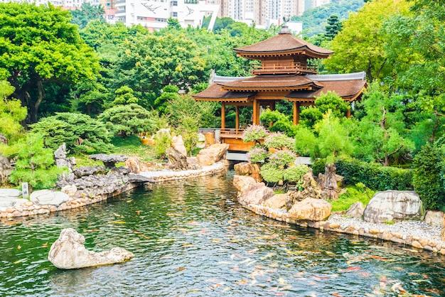 Temple chi lin dans le jardin nan lian