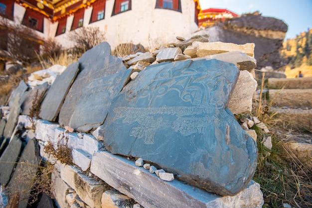 Temple de chonggu sur la réserve naturelle de yading