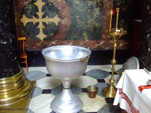 Temple chrétien à l'intérieur