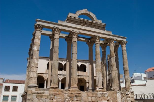 Le temple de diane, merida, badajoz, espagne