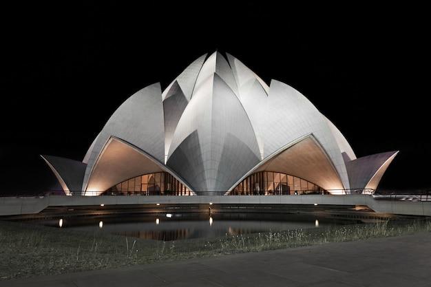 Temple du lotus, delhi