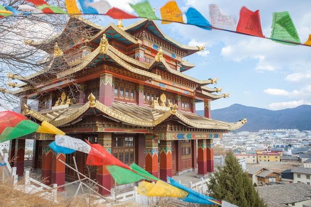 Temple du tibet en chine