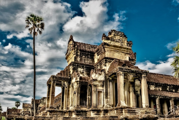 Temple historique d'angkor wat à siem reap, cambodge