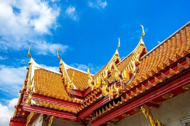 Temple de marbre à bangkok, thaïlande.