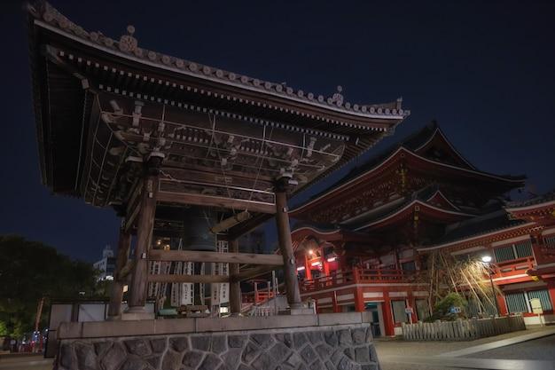 Temple d'osu kannon de nuit, nagoya
