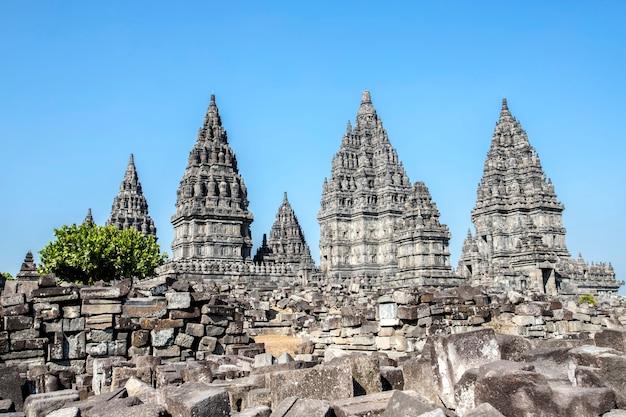 Temple de prambanan, yogyakarta sur l'île de java, indonésie