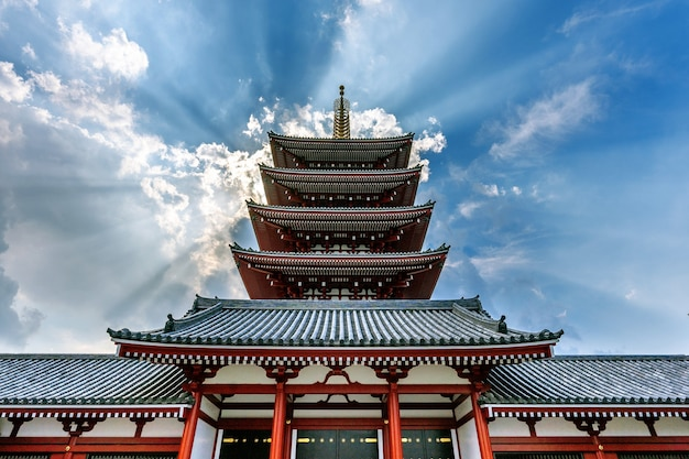 Temple senso-ji à asakusa, tokyo, japon.
