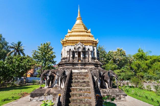 Temple wat chiang man à chiang mai en thaïlande
