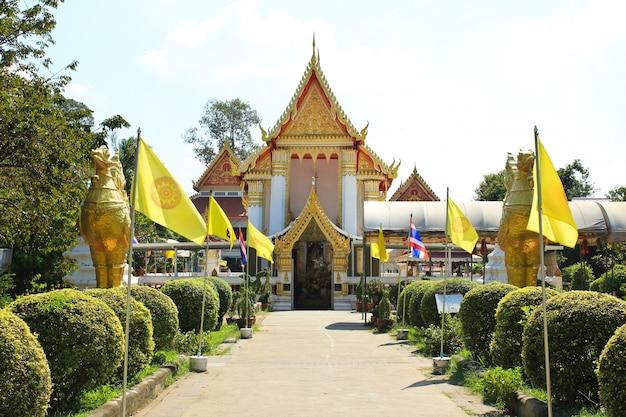 Temple de wat phai lom à koh kret, nonthaburi, thaïlande.