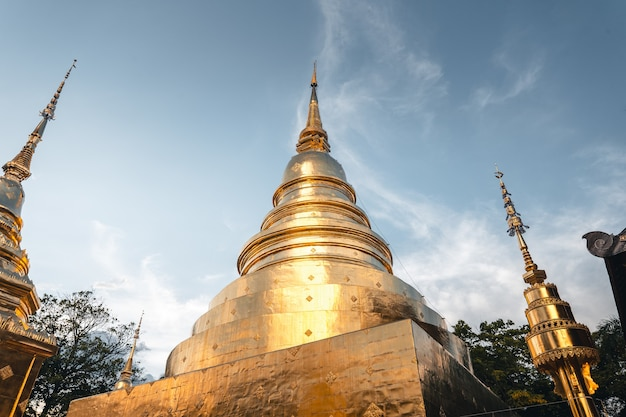 Temples et pagodes thaïlandais d'or, wat phra singh chiangmai