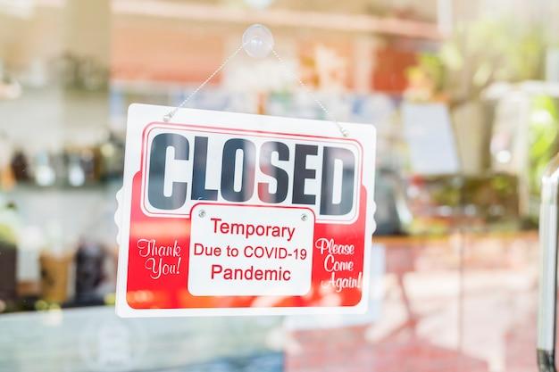 Temporairement fermé en raison du coronavirus